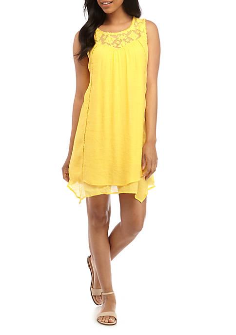 New Directions® Sleeveless Double Layer Gauze Dress