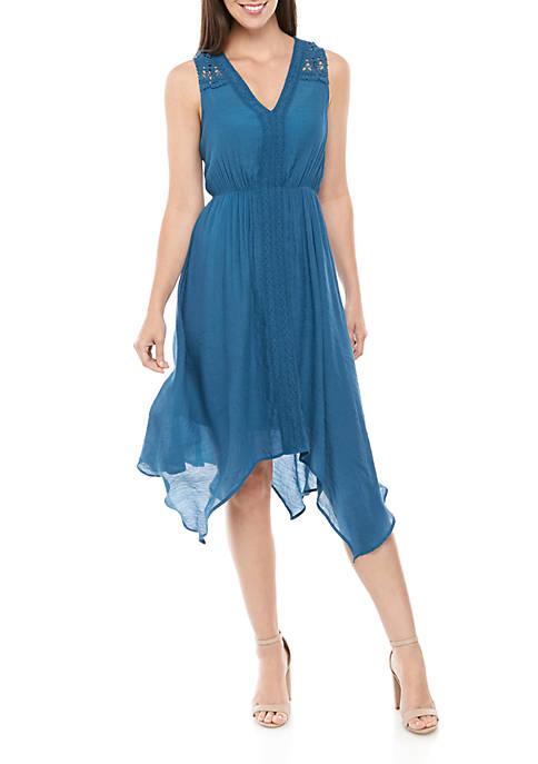 New Directions® Sleeveless Crochet Front Dress