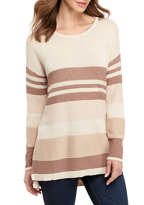 Long Sleeve Striped Oversize Pullover Sweater