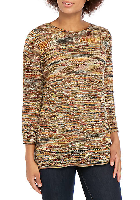 New Directions® Space Dye Pullover Sweater