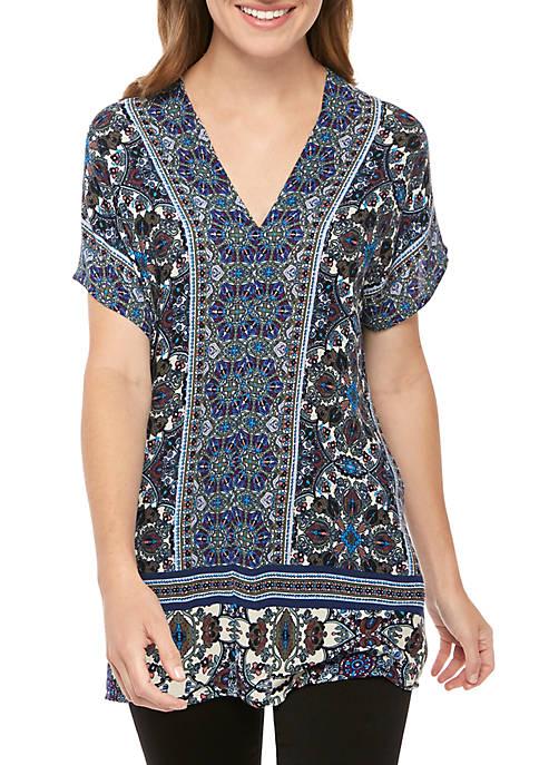 New Directions® Dolman Sleeve Twin Print Tunic