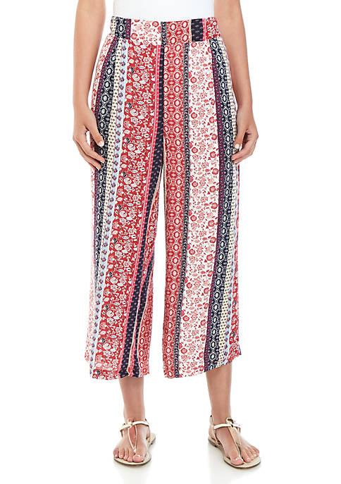 New Directions® Americana Crop Culotte Pants