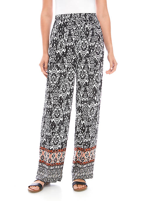 New Directions® Border Tribal Print Soft Pants