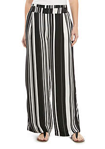 New Directions® Pull On Stripe Palazzo Pants