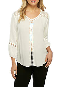 3/4 Sleeve Pullover Top