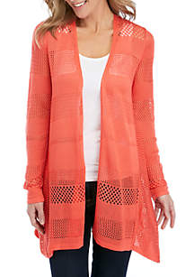 New Directions® Long Sleeve Marled Solid Cardigan