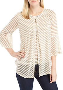 3/4 Bell Sleeve Fly Away Knit Top