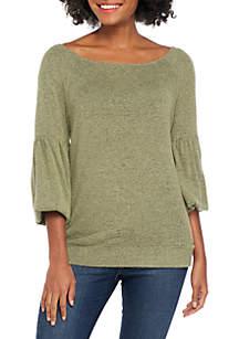 Long Sleeve Hacci Sweatshirt
