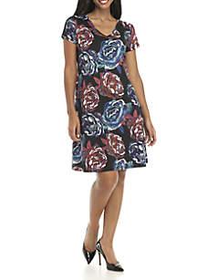 Lace-Up Back Dress