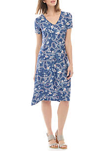 New Directions® Short Sleeve Puff Dress