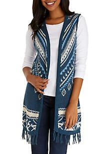 Tribal Pattern Sweater Vest
