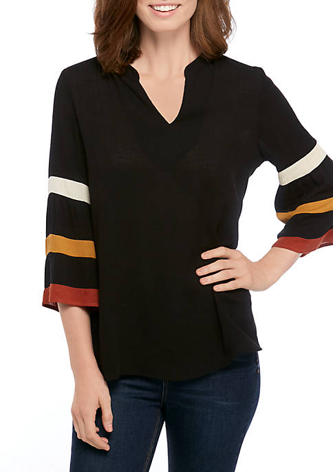 Womens Crepe Tunic With Stripes