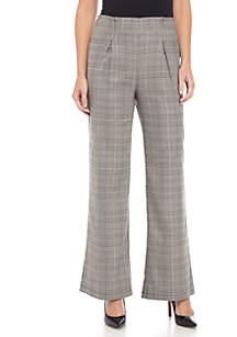 Printed Plaid Pants