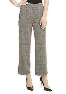 Plaid Pants with Buttons