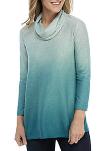 New Directions® Long Sleeve Ombre Hacci Top