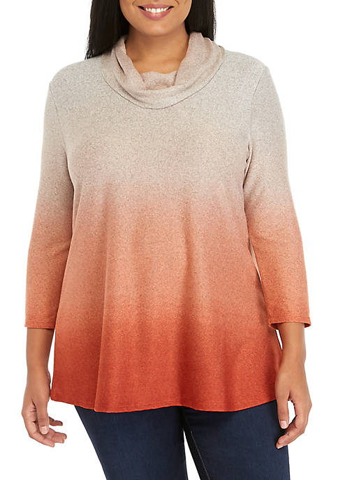 New Directions® Long Sleeve Cowl Neck Ombre Hacci