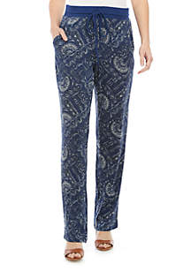 New Directions® Paisley Hacci Pants