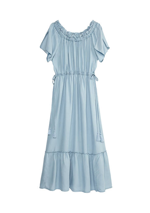 New Directions® Womens Short Sleeve Tiered Maxi Dress
