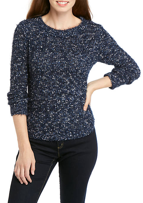 New Directions® Popcorn Chenille Pullover Sweater