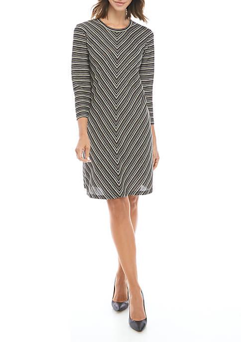 John Paul Richard Long Sleeve Stripe Dress