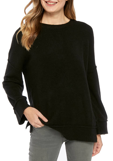 New Directions® Womens Button Sweater