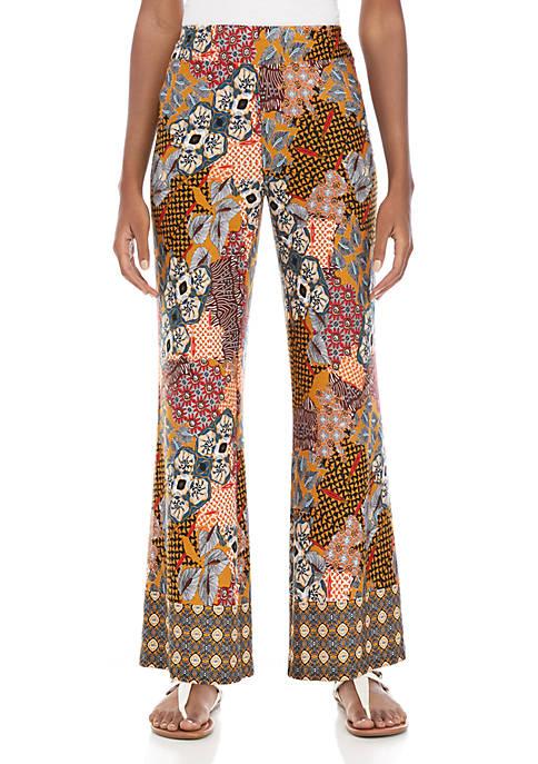 Petite Multi Patchwork Soft Pants