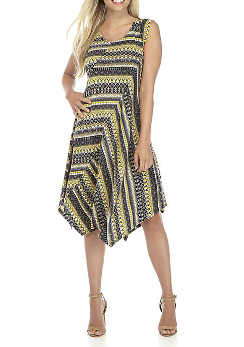 New Directions® Petite Sleeve Printed Promo Dress