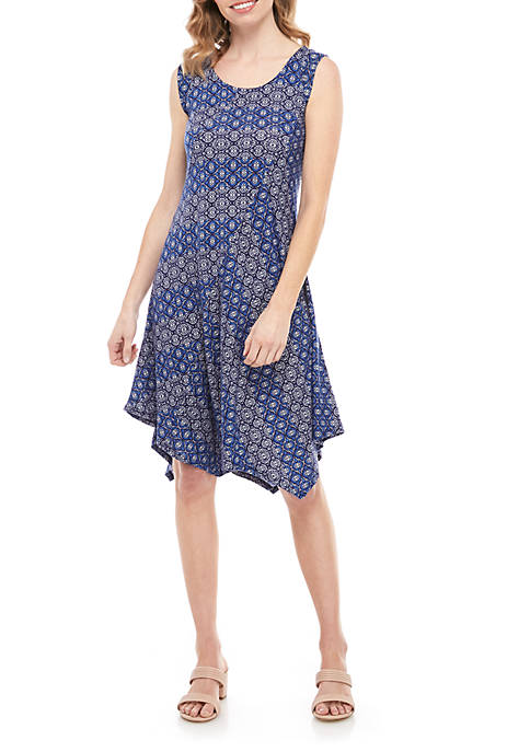 New Directions® Petite Essential Asymmetrical Dress