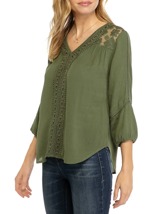 New Directions® Petite Woven Blouse