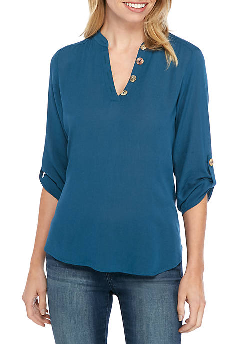 New Directions® Petite Roll Tab Popover Top with