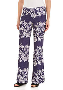 New Directions® Petite Printed ITY Palazzo Pants