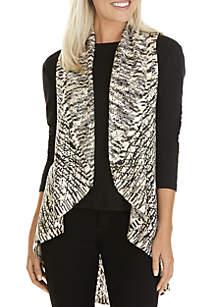 Petite Marled Yarn Vest