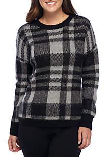 Petite Plaid Pullover