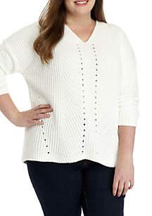 Plus Size Chenille Pullover