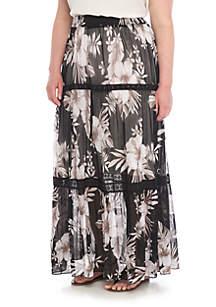 Plus Size Mesh Skirt