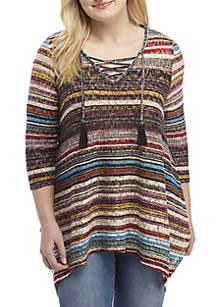 Plus Size Hacci Fashion Knit Top