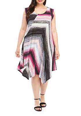 bc76a20bd6a933 New Directions® Plus Size Essential Asymmetrical Dress ...