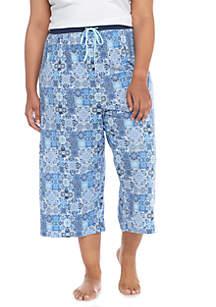 Plus Size Culotte Floral Pant