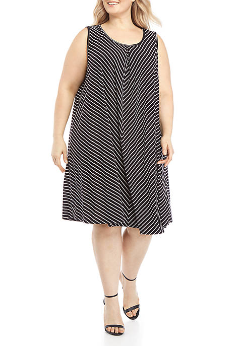 Plus Size Stripe Tank Dress