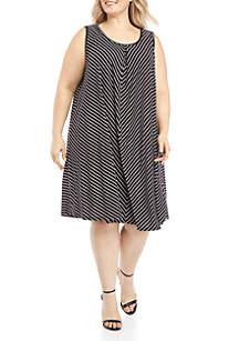 83022c184f3d5 ... New Directions® Plus Size Stripe Tank Dress