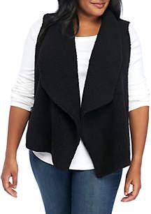 Plus Size Fur Vest