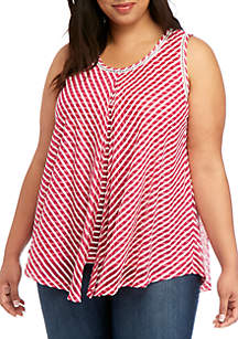 New Directions® Plus Size Essential Flyaway Tank