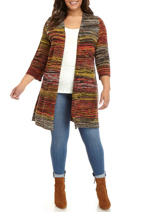 New Directions® Plus Size Space Dye Cardigan