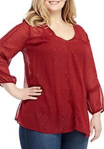 Plus Size Long Sleeve Blouse