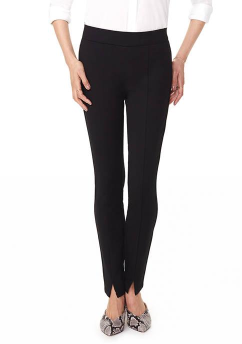 Womens Basic Leggings with Front Slit