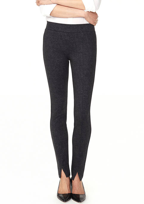Womens Basic Leggings with Front Slit