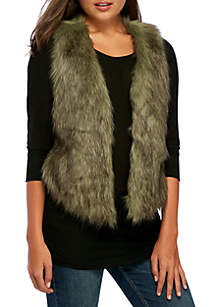 Basic Faux Fur Vest