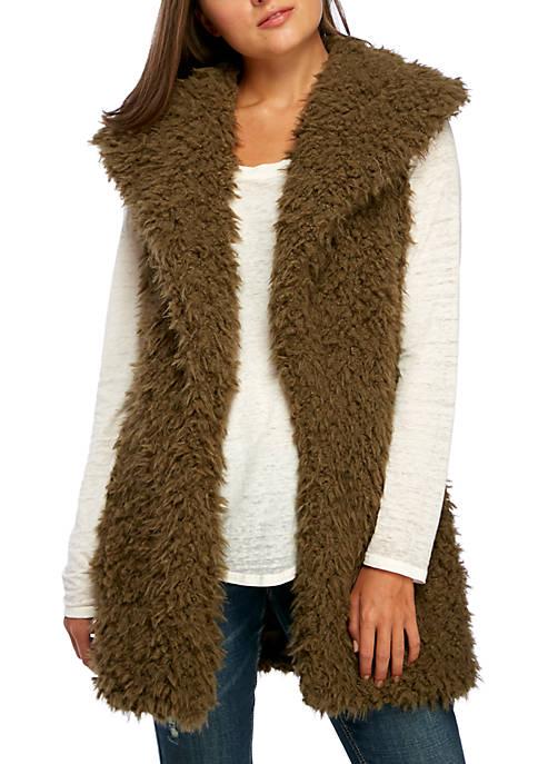 Faux Fur Curly Vest