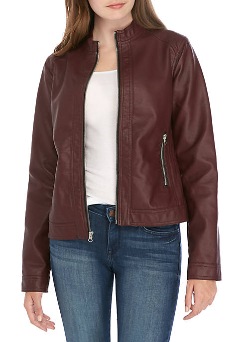 Me Jane® Faux Leather Jacket
