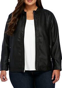 Plus Size Basic Jacket